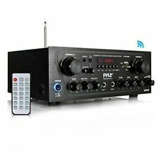 NEW Pyle Home PTA24BT Compact Bluetooth Audio Stereo Receiver With FM Radio
