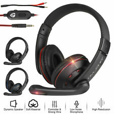 Gaming Headset With 3.5mm Jack Cable Mic Headphones Stereo For Xbox One PS4