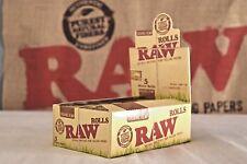 24 Raw Organic HEMP 5m Rolls Natural Rolling Papers Full Box 10% LESS!!!