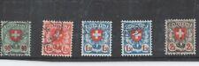 Switzerland 1924-40 Shield and Value Set Used
