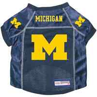 NEW MICHIGAN WOLVERINES DOG PET PREMIUM ALTERNATE JERSEY w/NAME TAG ALL SIZES