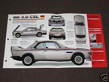 1971-1975 BMW 3.0 CSL (1973) Car SPEC SHEET BROCHURE PHOTO BOOKLET