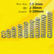 5Pcs Helical Compression Spring Select Wire Dia 1.0mm OD 10- 16mm Length 10-50mm