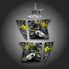 Pro Armor Door Graphics Kit Polaris RZR XP 900 RZR S 800 07-14 Skull Ride Yellow