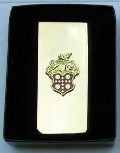 RARE EARLY NOS PACKARD GOLD AND CLOISONNE MONEY CLIP IN IT'S ORIGINAL BOX #G286