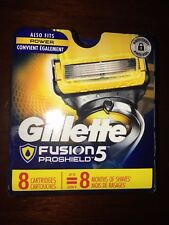 Gillette Fusion Proshield 8 Cartridges Razor Blades Authentic Refills NEW 6161