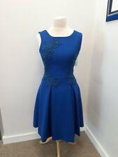 Teresita Orillac - Crepe Blue Skater Dress - UK Size 10 - BNWT