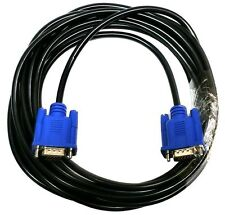 2 PACK 15FT SVGA 15 PIN Male To Male SUPER VGA Monitor Extension Cord Cable Blue