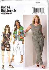 Sleeveless Jumpsuit Romper Kimono Jacket Sewing Pattern Womens Plus 26 28 30 32