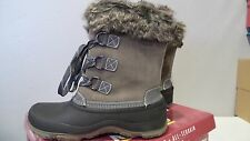 NEW KHOMBU WATERPROOF SLOPE WINTER BOOTS GREY LEATHER WOMEN'S Sz 11 ALL TERRAIN