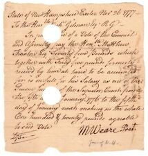 Matthew Thornton's Payment Receipt for Signing the Declaration of Independence