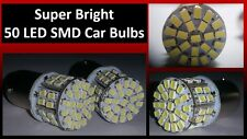 2 X 1156 Super Brillante 50 Smd coche bombillas LED para romper señal inversa parking 12v