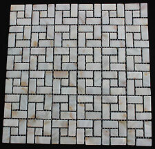 Mother of Pearl Backsplash tile Random Brick pattern Natural white Wall Bathroom