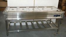 5 Full Size Pan Warmer Electric Steam Table Buffet Food Warmer 110v 4 Deep Pan