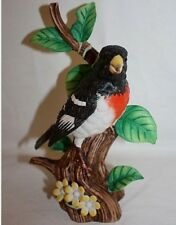 Danbury Mint Rose Breasted Grosbeak From Songbird Collection Figurines Porcelain