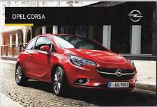 OPEL CORSA - CATALOGUE KATALOG SALES BROCHURE PROSPECTUS 2016 - 62 PAGES - NEUF