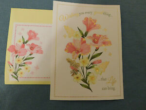 """New """"Happy Birthday"""" Greeting Card with Matching Envelope"""
