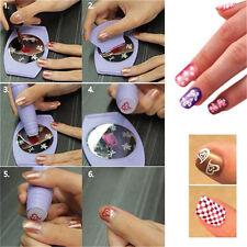 DIY Nail Art Stamping Decals Nail Design Kit Set Tools Manicure Machine Template