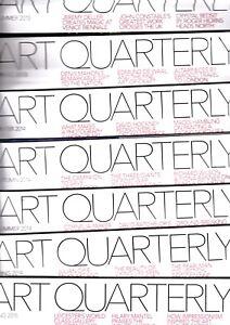 Various Issues of ART QUARTERLY Magazine (ART FUND) 1997-2015