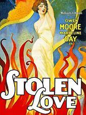 MOVIE FILM STOLEN LOVE MOORE DAY SILENT DRAMA ROMANCE ART POSTER PRINT LV6859