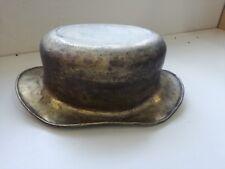 Splendida scultura in ottone CAPPELLO brass HAT sculpture vintage 42 cm