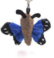 Peluche / Calins, / Tissu Animal Porte-Clés Papillon Bleu Papillon 14 CM