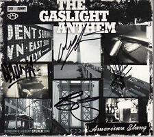 THE GASLIGHT ANTHEM American Slang 2010 European SIGNED / AUTOGRAPHED CD + CoA