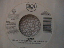 """SUBLIME ROME """"I BELONG TO YOU"""" / """"DO YOU LIKE THIS"""" 7"""" WHITE LABEL PROMO MINT"""