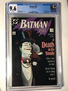 Batman #429 (1989) CGC Graded 9.6 A Death in the Family Part 4 DC Comics