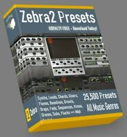 25.500 Zebra2 Presets Soundbanks CUBASE REASON SONAR LOGIC ABLETON FL STUDIO MPC