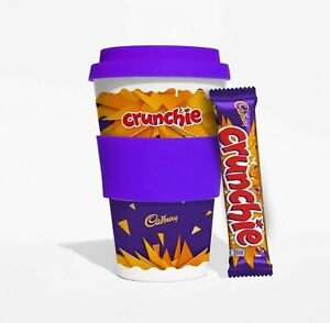 Cadburys Crunchie Bamboo Travel Cup with Chocolate Bar