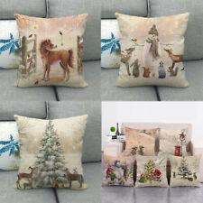 Fawn Series Throw Pillow Covers Santa Claus Sleigh Christmas Eve Cushion Cover