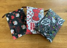 (Set of 3) Hello Kitty Folding Eco Reusable Shopping Tote with Pocket Pouch
