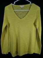 Eileen Fisher Women's Yellow Long Sleeve Sweatshirt Size Petite Small