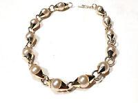 Bijou alliage doré collier perles fantaisies necklace