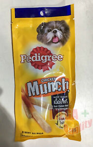 40g Pedigree Chicken Munch Flavoured Dog Food Sticks Real Meat Low Fat