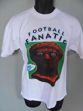 VINTAGE Nike Tee Football Fanatic MEDIUM futbol soccer T-shirt Soccer world cup