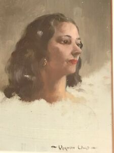 Oil Painting by famous British Artist Vernon Ward (1905-1985) Portrait of A Lady