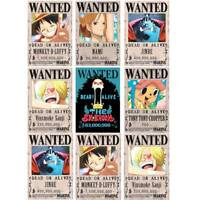 10pcs/Set New One Piece Anime Poster Straw Hat Pirates Shanks Ace Wanted Poster