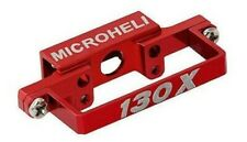 Microheli Blade 130x Aluminum Aluminum DS35 Tail Servo Mount (RED)130 x