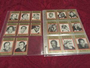 1985 HALL OF FAME - FOOTBALL IMMORTALS Partial Set 81 Cards
