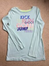 Girls Mint Green Long Sleeve Top with Logo, Age 14/16 XL, Circo USA, Hardly Worn