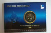 Coincard Estland 2017 mit 2 Euro Gedenkmünze   BU