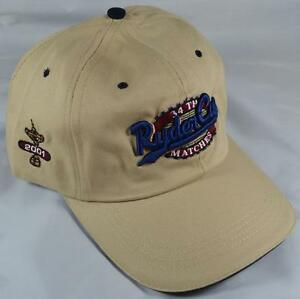 New 2001 RYDER CUP (The Belfry) Stone GOLF HAT