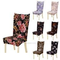 Removable Stretch Elastic Floral Slipcovers Home Stool Chair Seat Cover Decor