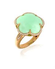 Pasquale Bruni 18k Rose Gold Diamond And Chrysoprase Ring Sz 7 15550R-15