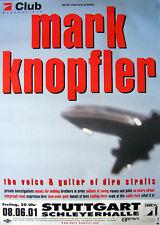 Original Konzertplakat  Mark Knopfler 2001  Stuttgart Schleyerhalle