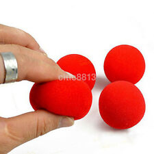 10Pcs 4.5cm Super Soft Sponge Red Balls Close-Up Magic Street Party Trick Prop U