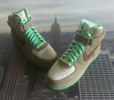 Nike iD Air Force 1 High Leather Glow In The Dark Size 10 Low Mid 808785 995 AF1