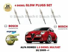 FOR ALFA ROMEO MITO 1.3D JTDM MULTIJET 2009--> NEW DIESEL GLOW PLUGS SET (4)